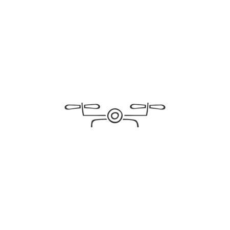 Photo camera drone icon. Hand drawn vector   element. Ilustracja