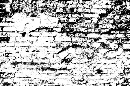 Vector background. A heavy grunge texture, old brick wall. Overlay illustration over any design to create depth and grungy effect. For posters, banners, retro and urban designs.