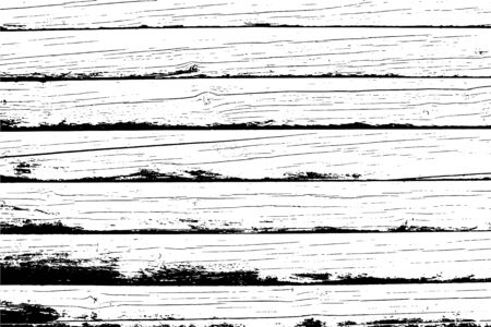Old wooden wall, horizontal planks. Vector detailed wood texture. Abstract background. For posters, retro and rustic designs. Overlay illustration over any design to create grungy vintage rustic effec 일러스트