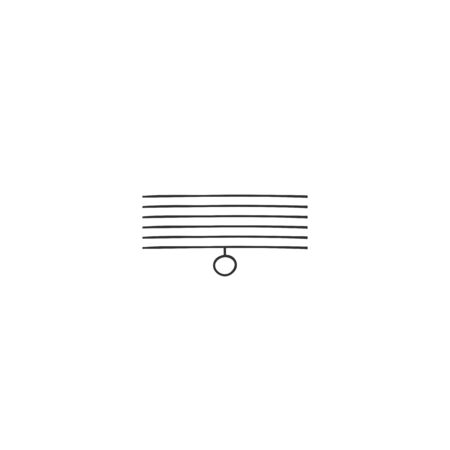 Window blinds icon. Vector hand drawn illustration.