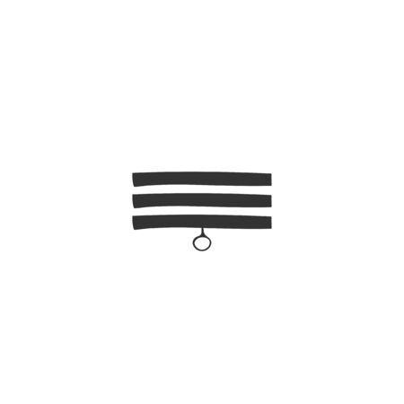 Vector hand drawn illustration. Window blinds icon.