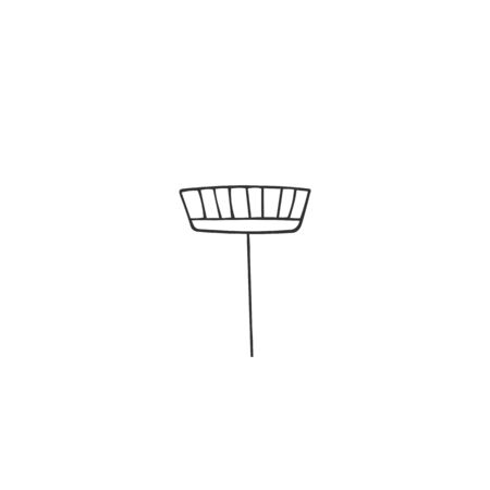 Vector hand drawn icon. A mop silhouette. Home cleaning and housekeeping theme.