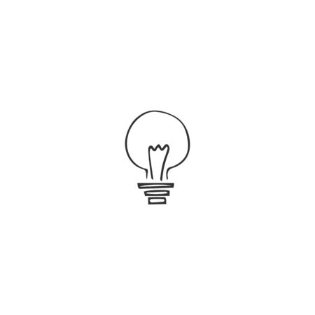 A light bulb. Housekeeping and home repairs theme. Vector hand drawn icon.