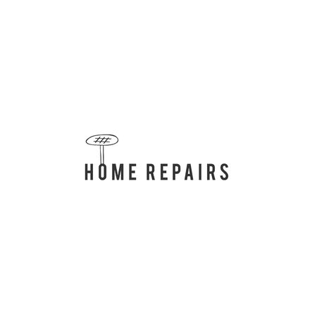 Housekeeping and home repairs theme. Vector hand drawn  template with a nail.