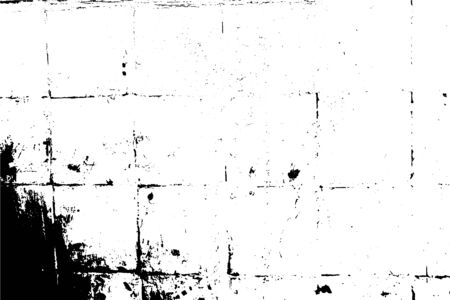 Background illustration. Dirty old surface, lined with ceramic tiles, vector grunge texture.