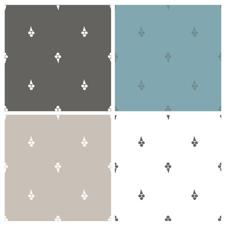 Vector set of abstract backgrounds with ice-cream. Seamless pattern.