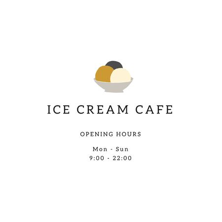 Vector menu template for cafe or shop with ice-cream hand drawn illustration.