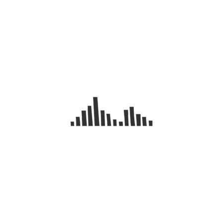 Music and sound record theme. An equalizer, vector isolated icon. Zdjęcie Seryjne - 136487544