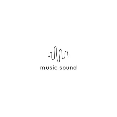An equalizer, vector logo template. Music and sound record theme. Ilustracja