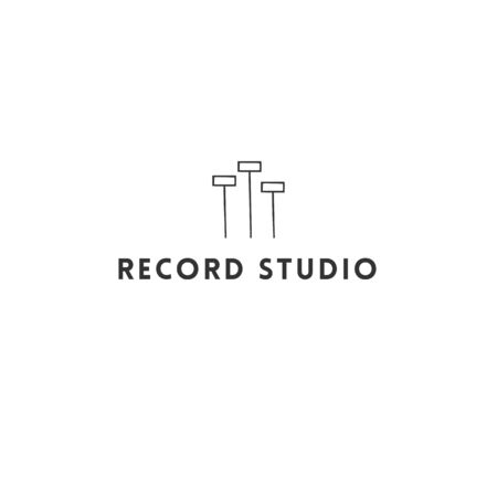 Vector icon template with an equalizer. Music and sound record theme.
