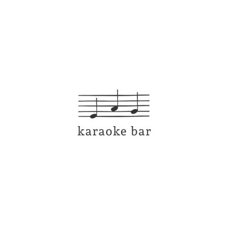 Vector  template with hand drawn music note stave.