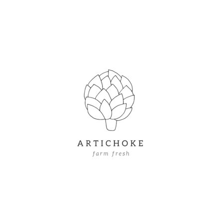 Vector hand drawn artichoke. For healthy nutrition, vegetarians, vegans. Isolated object, vegetables. Vectores