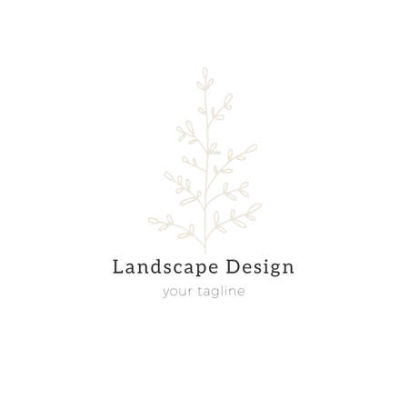 A branch with leaves. Hand drawn simple floral template. Vector illustration.