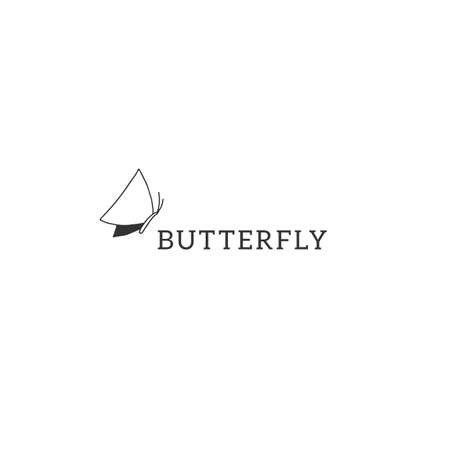 Vector hand drawn insect   template with a butterfly icon. Simple doodle illustration.
