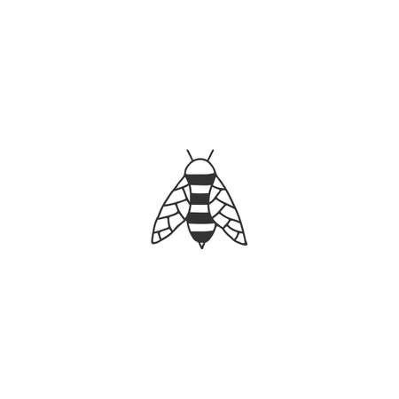 Vector insect icon, a bee. Hand drawn simple graphics. Zdjęcie Seryjne - 157156705