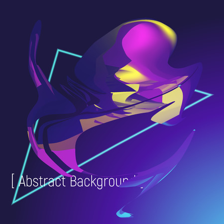 Poster abstract background futuristic violet and blue color