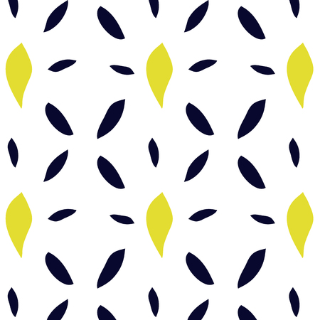 banana sheet: Seamless pattern with yellow and blue leaves Illustration