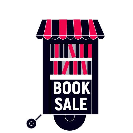 Vente de livres avec camion noir et rouge Banque d'images - 72406658