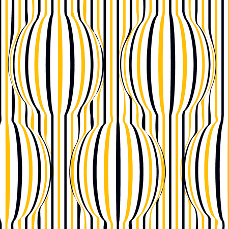 bloat: Optical illusion black, white, yellow with swollen circle