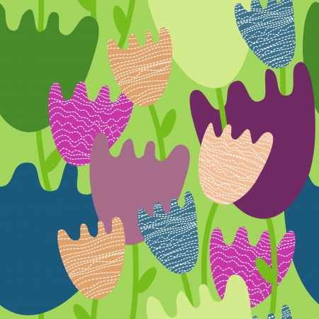 Colorful floral  seamless pattern Stock Vector - 17178718