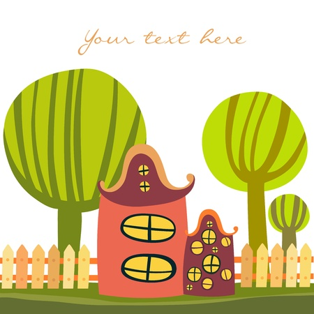 Cute cartoon house Illustration