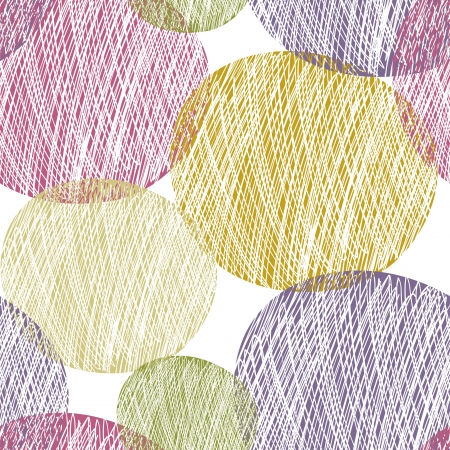 Seamless abstract circle pattern Illustration
