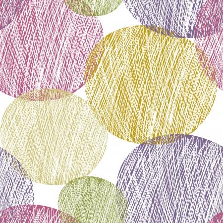 Seamless abstract circle pattern Illustration