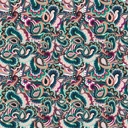 indien muster: Paisley seamless background Illustration