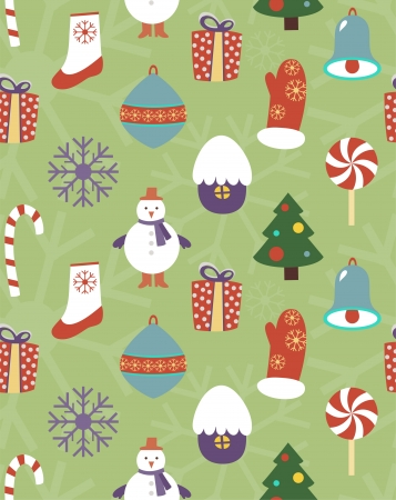 Colorful seamless Christmas pattern Illustration