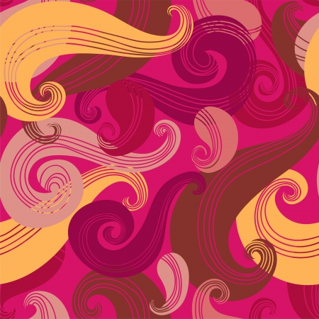 Colorful seamless wave pattern Illustration
