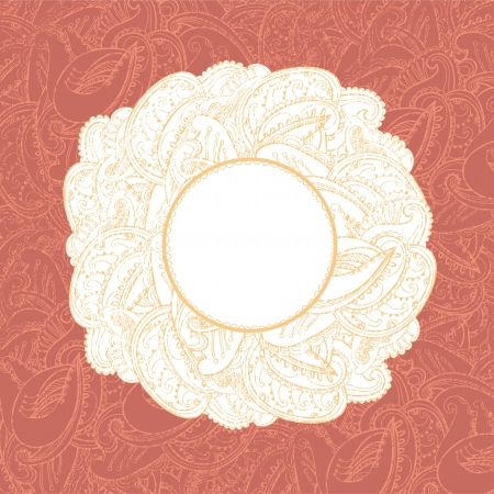 Gorgeous vintage lace-like paisley frame