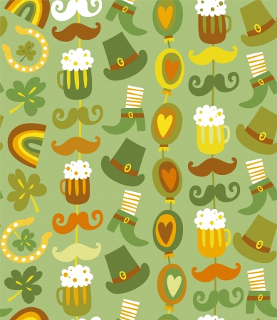 Colorful seamless St Patrick s day pattern Stock Vector - 17818913