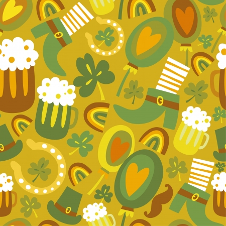Colorful seamless St Patrick s day pattern Vector