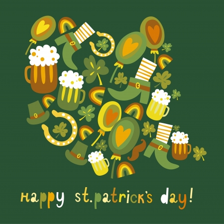 Cute colorful St Patrick s day background