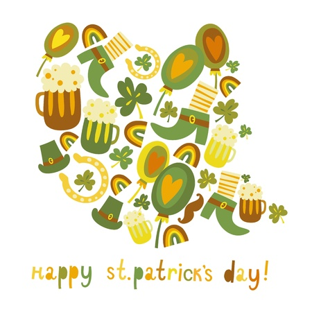 Cute colorful St Patrick s day background Vector