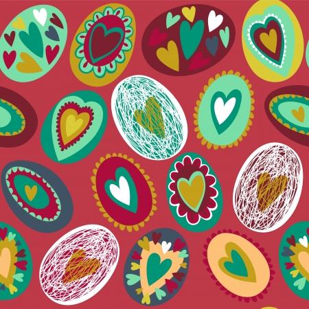 Easter egg seamless pattern