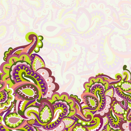 Colorful seamless paisley background