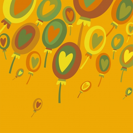 Colorful Balloons Abstract background Vector