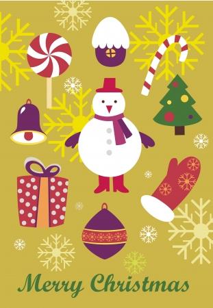 �olorful Christmas background Illustration