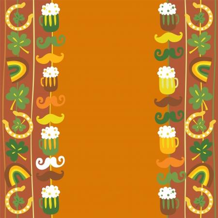 Colorful seamless St Patrick s day border Illustration