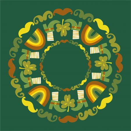St Patrick s day round background Vector