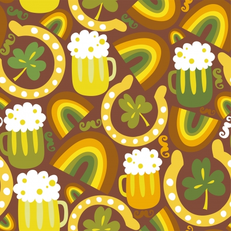 Colorful seamless St Patrick s day pattern