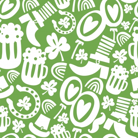 Seamless St Patrick s day pattern Vector