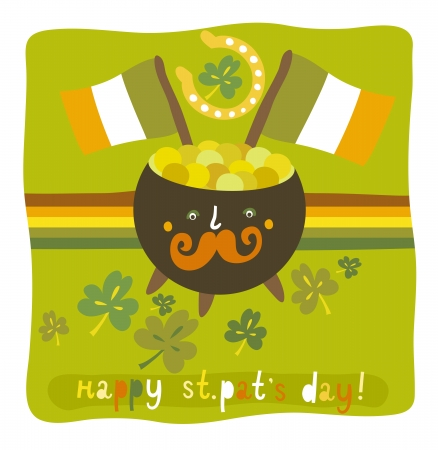 St Patrick s day colorful background Vector