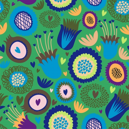 Colorful seamless floral pattern Stock Vector - 18227906