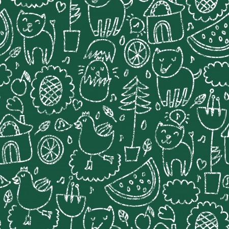 Cute seamless chalkboard pattern
