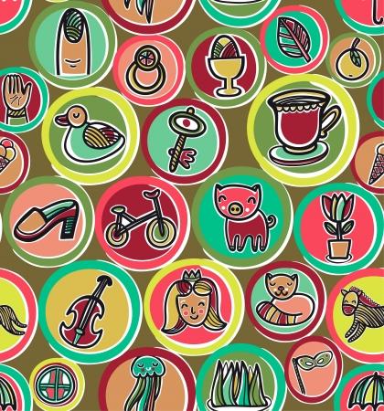 Cute colorful cartoon pattern