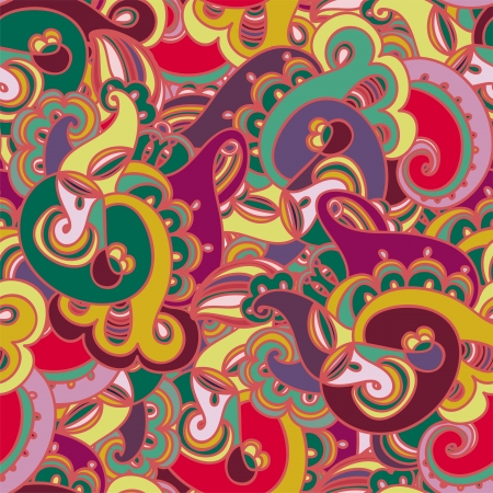 paisley background: Gorgeous colorful seamless paisley pattern