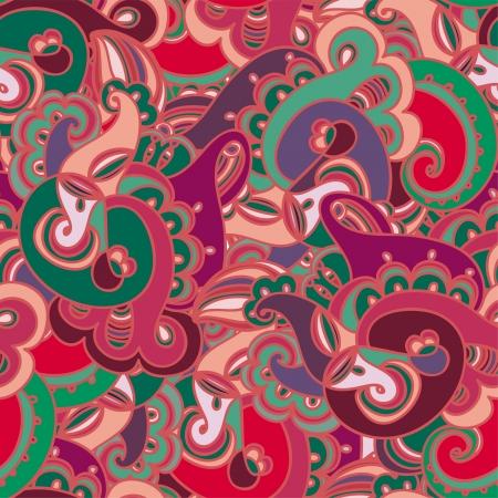 persian art: Gorgeous colorful seamless paisley pattern