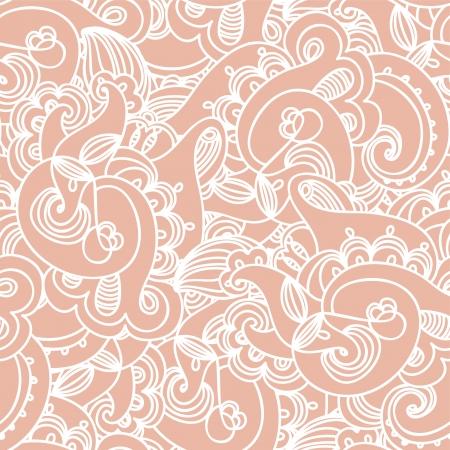 Seamless elegant paisley lace pattern Illustration